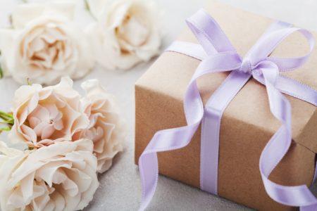 wrapped wedding gift